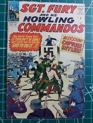 Sgt Fury And His Howling Commandos 9 August 1964 Marvel Hitler Cover