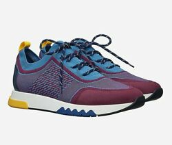 Hermes Mens Sneakers Addict Sold Out Blue Jeans Prune 8.5 Uk Proof Of Purchase