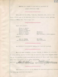Thomas A. Edison - Corporate Minutes Signed 09/29/1920 With Co-signers