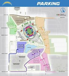 La Chargers Parking Pass Sofi - Pink Tailgating Zone - Broncos Game