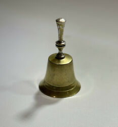 Vintage Leonard Epns Silverplated Church Bell With Aad Temple 4 Name On It