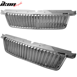Fits 06-10 Ford Explorer Vertical Style Chrome Front Bumper Grille Guard Abs
