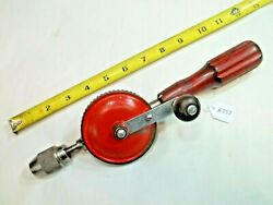 Millers Falls Vintage No. 2500c Woodworkers Egg Beater Style Hand Drill Usa
