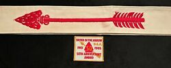 Order Of The Arrow Oa Bsa 1965 54 Evenly Faded Sash With 50th Ann Award Patch
