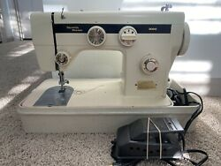 Vintage Dressmaker Stretch Series 3000 Sewing Machine With Case And Pedal Tested