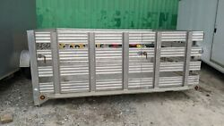 10and039 Aluminum Truck Stake Body Truck Bed. F-550 By Cm Trailers Co
