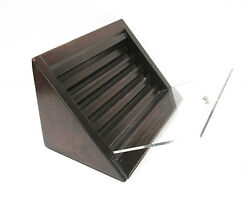 Usa Display Case Slanted Front Display Wooden Case For Coins Rings Pens Knife