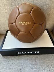 Coach Leather Soccer Ball $139.00