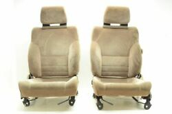 1985-1989 Toyota Mr2 Aw11 4age 1.6l Pair Of Tan Cloth Seats Driver And Passenger