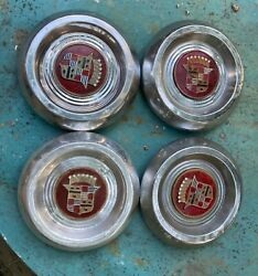 1953-1956 Cadillac Kelsey Hayes Sabre Or Four 1953 Wire Wheel Hubcaps Oem Rare
