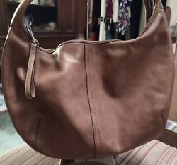COACH Vintage Hobo Leather Purse 9227 Brown $49.00