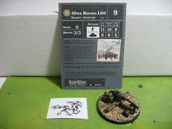 Axis And Allies Contested Skies 40mm Bofors L60 With Card 14/45