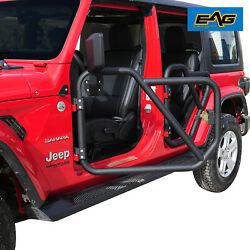 Eag 2 Front Tubular Doors Only With Mirrors Fit For 18-21 Jeep Wrangler Jl 4