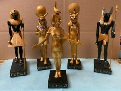 Ancient Egyptian Gods Set Of 5 Collectible Veronese Statues/figurines