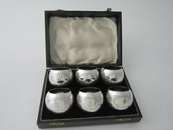 Antique Sterling Silver Napkin Rings - 1914 By Arthur Harris