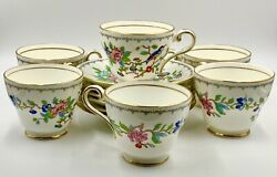 Set Of 6 Wonderful Aynsley Pembroke Cups And Saucers, Excellent Condition