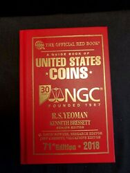 2018 71st Edition - Ngc 30th Anniv-guide Of Us Coins Hardcover Official Red Book