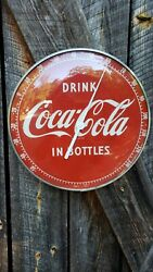 1950s Coca-cola Thermometer. 12in Glass Front. Works