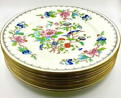 Set Of 8 Wonderful Aynsley Pembroke Dinner Plates, Excellent Condition