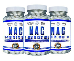 Nac 600 Mg N-acetyl Cysteine Capsules Antioxidant Liver Lung Support - 3 Bottles