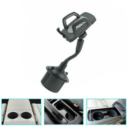 1x Universal Adjustable Black Car Mount Cup Holder Phone Cradle For Cell Phone