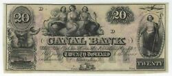 20 18__ Remainder Obsolete Bank Note - Canal Banking Comp. New Orleans