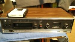 Vintage Panasonic Rs-803us 8-track Stereo Tape Deck Player Recorder Tested Works