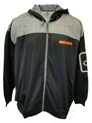 Chicago Bears Mens Nfl Majestic Full Zip Fleece Line Hooded Jacket Big And Tall 6x