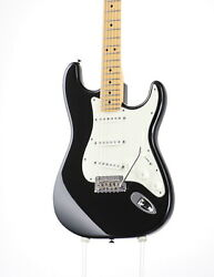 Used Fender Usa American Standard Stratocaster Black Electric Guitar 2011