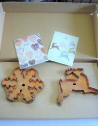 Martha By Mail Stewart Copper Cookie Cutters - Reindeer And Snowflake