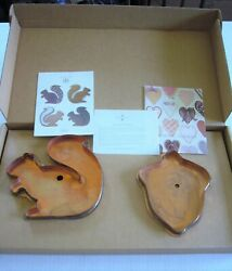 Martha By Mail Stewart Copper Cookie Cutters - Acorn And Squirrel - Iob