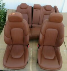 2014-2019 Maserati Ghibli Sq4 Front And Rear Seat Cushion Leather Brown Set Oem
