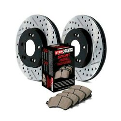 For Dodge Dart 16 Stoptech Sport Drilled And Slotted 1-piece Front Brake Kit