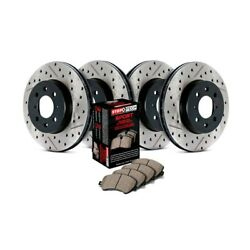 Stoptech Sport Drilled And Slotted 1-piece Brake Kit