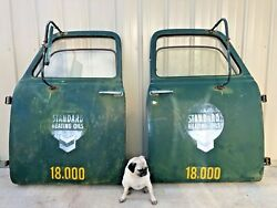 Vintage 1950and039s Chevy Truck Doors Matching Pair Standard Heat Oil Central Oregon