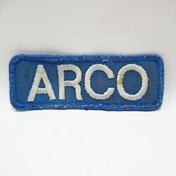 Vintage Patch - Uniform - Arco Gas Stations - Blue - Embroidered - Collectible