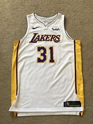 Thomas Bryant Lakers Team Issued Jersey Used White Nike Size 54 +4 2017-18