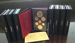 Canada - Proof Sets- Double Dollar - 19751976197719781979198019821983