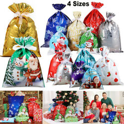 Candy Bags Wrapping Pouches Drawstring Gifts Xmas Christmas Party Biscuit Bag Us