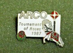 1987 Arco Tournament Of Roses Parade Lapel Pin Oil And Gas Company Vintage
