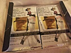 2001 Spx Baseball 16 Packs In Box - Possible Ichiro Rookie Auto Patch