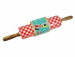 The Pioneer Woman Charming Check Rolling Pin Red Kitchen Collectible Ceramic