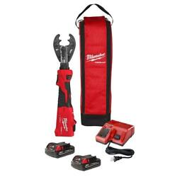 Milwaukee 2978-22o M18 Force Logic 6t Linear Utility Crimper Kit With O-d3 Jaw