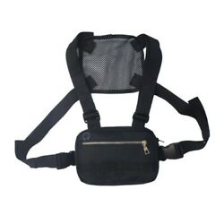 Mens Chest Bag Tactical Molle Harness Chest Rig Hip Hop Fanny Pack Backpack Bags $12.97