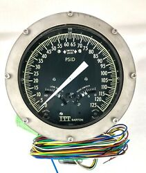 Itt Barton 580a 0-125 Psid 3000psi Differential Pressure Indicator Switch Nos