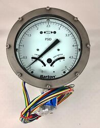 Itt Barton 580a 0-5 Psid 500psi Differential Pressure Indicator Switch Nos