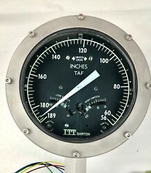 Itt Barton 580a 0-133 Wc 3000psi Differential Pressure Indicator Switch Nos