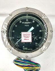 Itt Barton 580a 0-50psid 3000psi Differential Pressure Indicator Switch Nos
