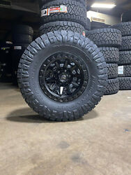 17x9 Fuel D694 Covert Black Wheels 35 Nitto At Tires 8x170 Ford Super Duty F250