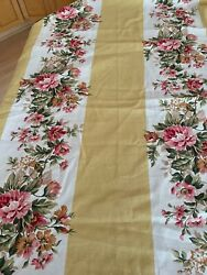 Ralph Lauren Home Fabric Floral Stripes Material NEW 40 x 54